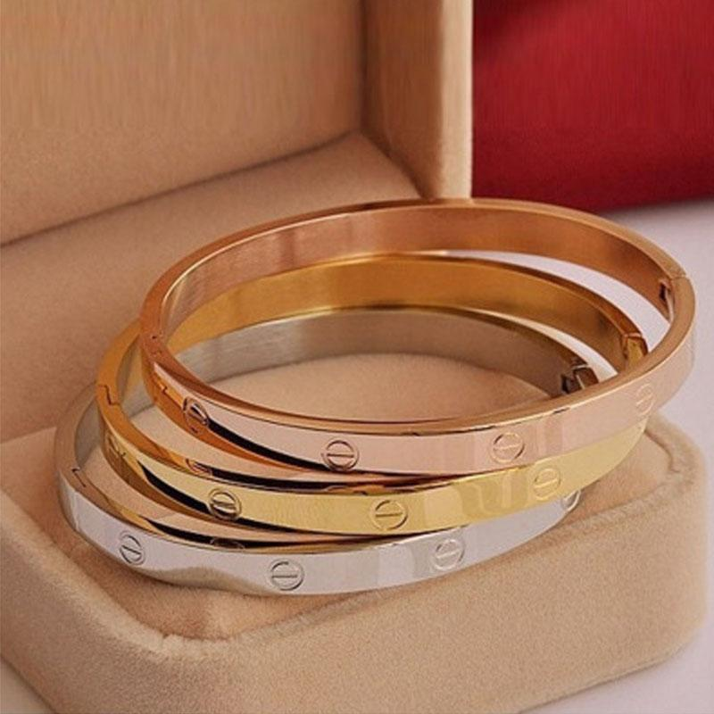 Love Bracelets - Silver, Gold, Rose Gold and Crystals, Men's/Women's
