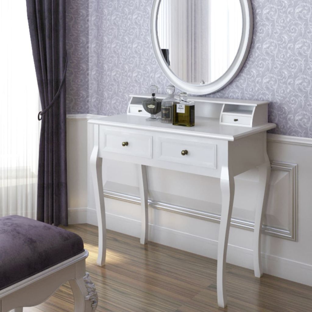 Vanity Makeup Table, Desk - French Provincial, White