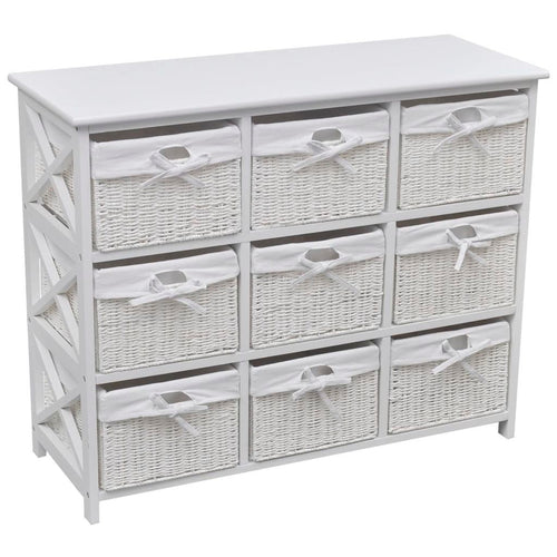 Dining, Laundry, Bedroom, Office Storage 9 Drawers - White
