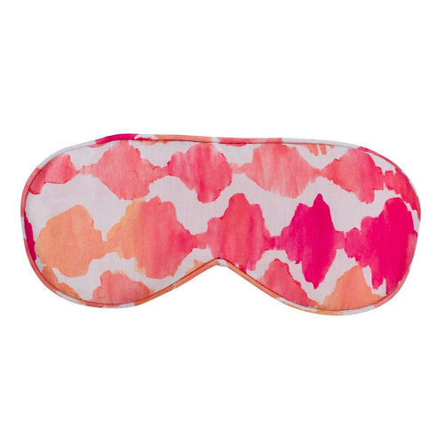 Eye Mask/Sleep Mask, SILK - Chloe in Bahamas Pink, Australian Designer