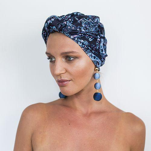 Chic Shower Turban/Cap- DAHLIA in Laguna, Australian design