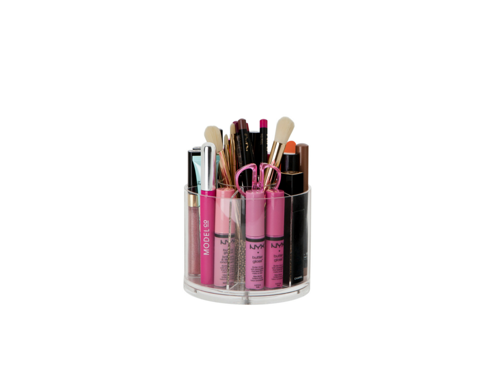 Spinning Deluxe Brush Holder - Acrylic Clear