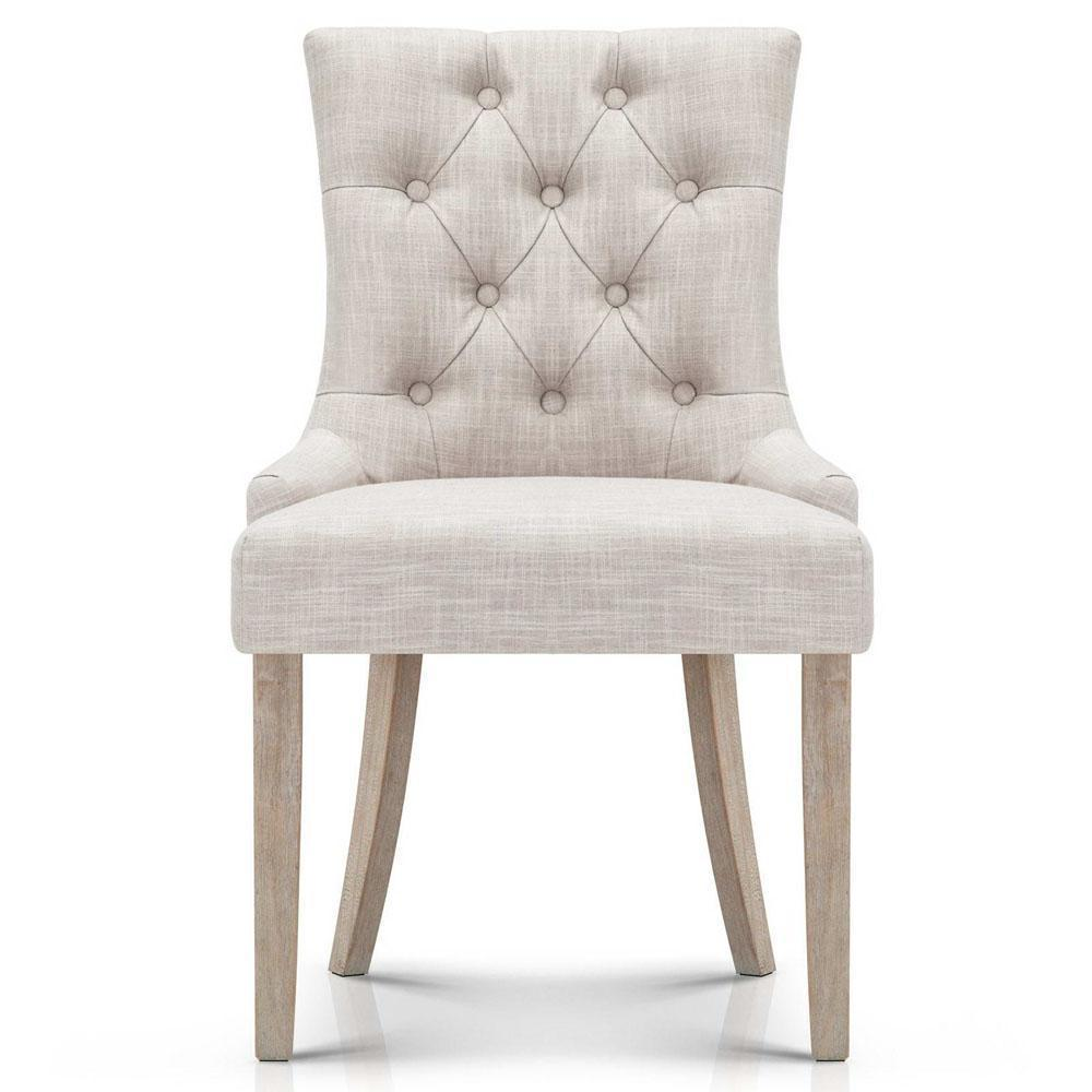 French Provincial Dining Chairs - CREAM BEIGE