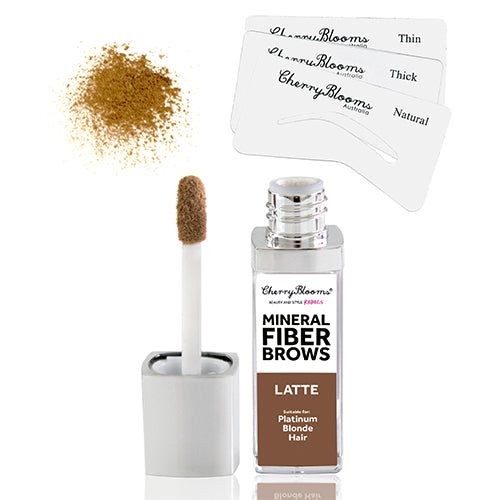 MINERAL FIBRE BROW KIT w/3 STENCILS - Cherry Blooms, Fiber Brow Kit