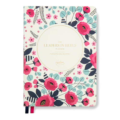 Leaders in Heels Planner – Phenomenal Woman, FLORAL BLUE