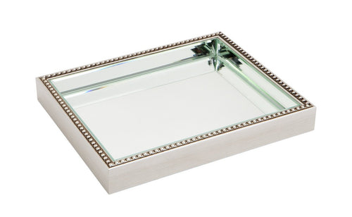 Luxury Beaded Mirror Tray - Large