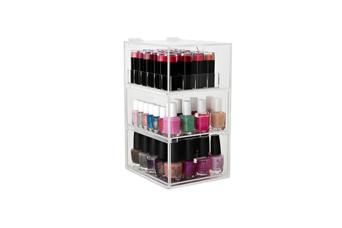 Original Nail Polish Tower + Lipstick Stand