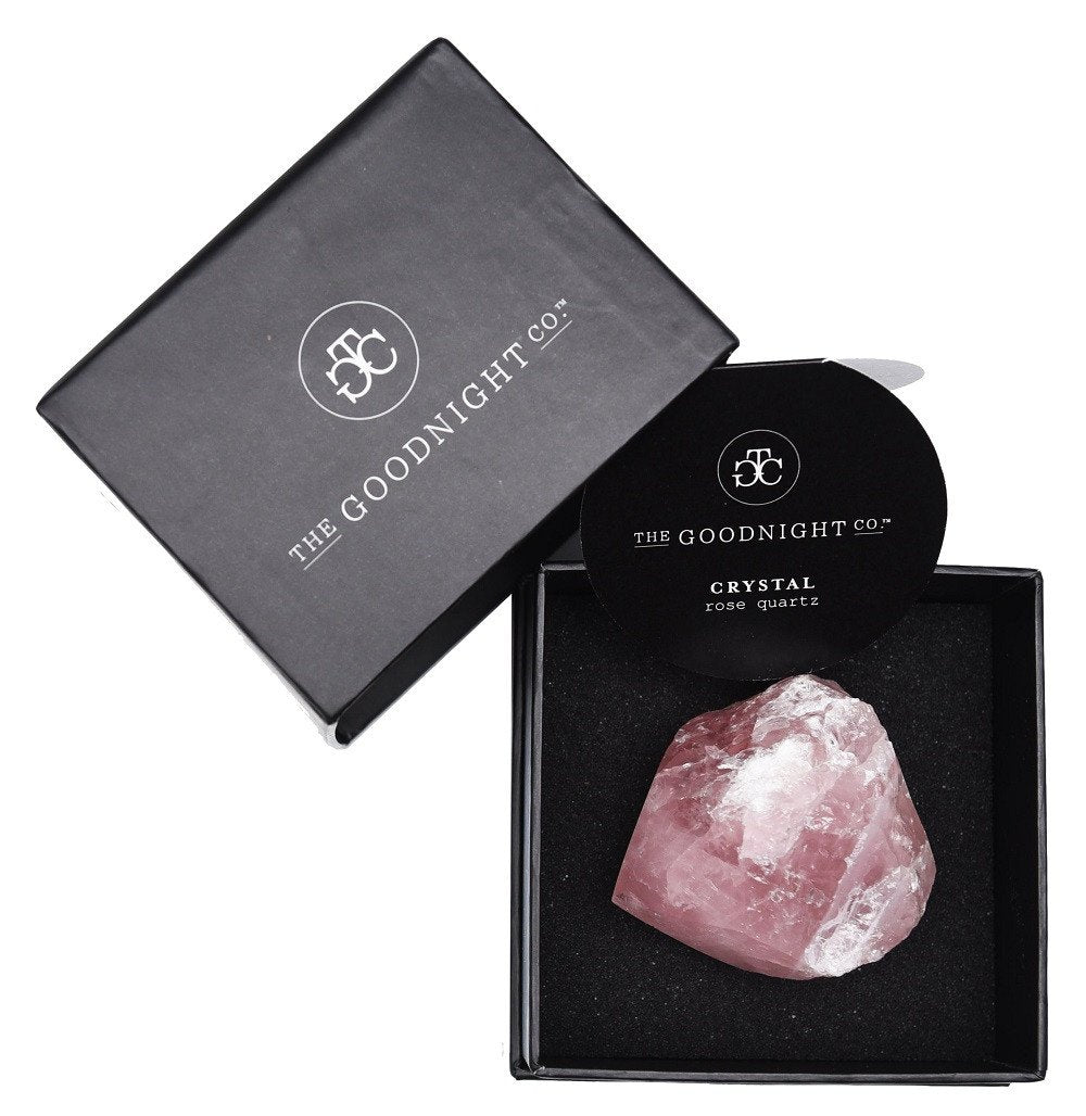Rose Quartz Crystal - Raw stone, with gift box