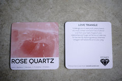 Love Triangle (Rose Quartz) Crystal, Raw