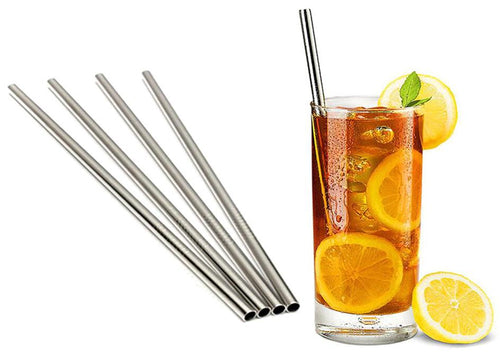Stainless Steel Drinking Straws - 4 pack, Eco friendly