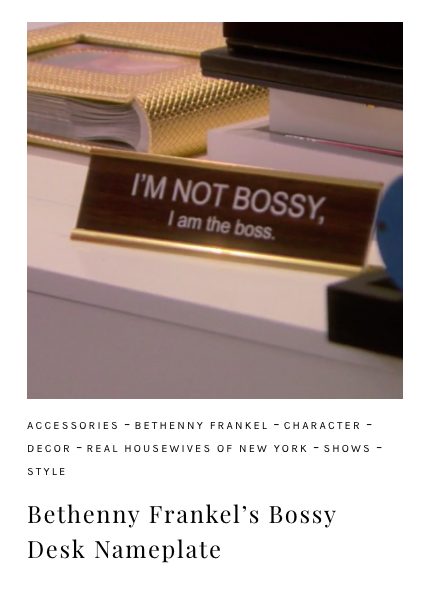 BOSSY LADY - Name Desk Plate