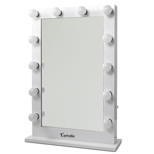 Hollywood Makeup Mirror - 65x50cm, Dressing Table Vanity White, LED