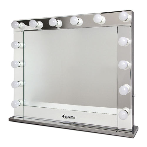 Hollywood Makeup Mirror - SILVER Horizontal, 65x80cm, Dressing Table Vanity Silver, LED