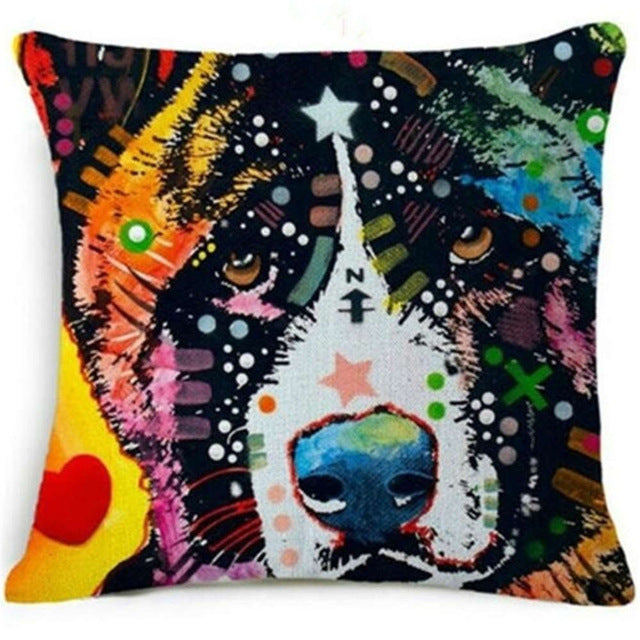 Animal Cushions Watercolor Painted Artwork 45x45cm