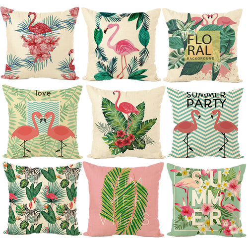Tropical & Flamingo Cushions - Cover Only
