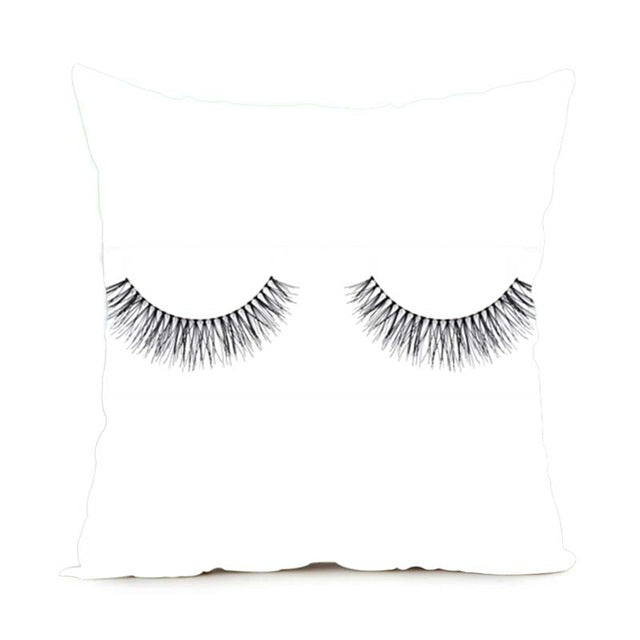 Lashes Cushion - Various Designs, 40cmx40, Cover only.