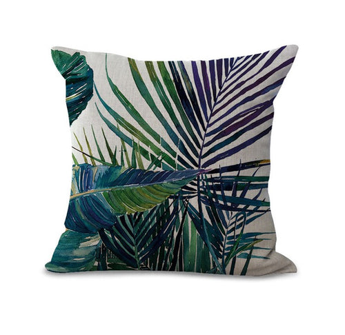 Tree Leaf Cushion Covers assorted, 43x43cm
