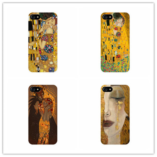 Gustav Klimt Phone Cover Cases -  For iPhone 8 7 6 6s Plus SE 5 5s 5c X samsung galaxy S3 S4 S5 S6 S7 edge phone cases