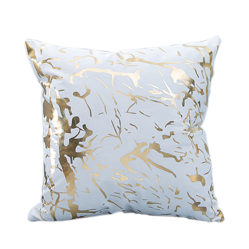 White & Gold, Travel theme Cushions - World Map, Boss - Office Inspo, 45x45cm