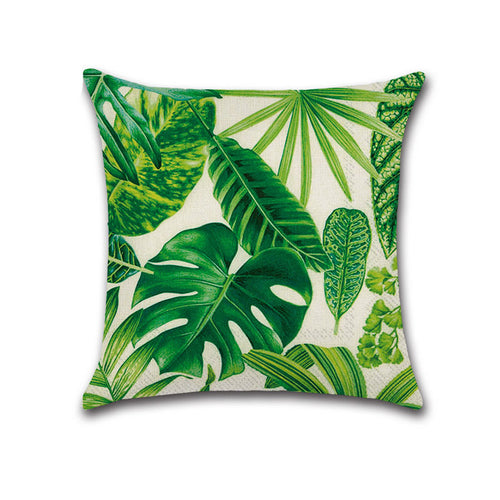 Fern & Palm Leaf Cushions, 40x40cm, Cover only