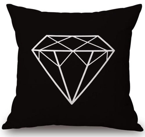 Monochrome Geometric Cushions - Assorted Designs, Hipster Style - Cover only