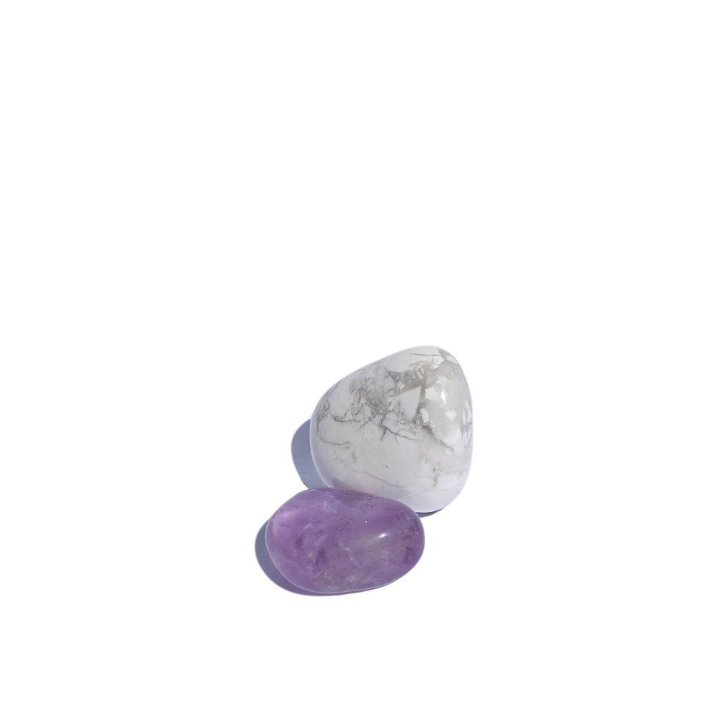 Sweet Dreams Tumbled Crystals - Amethyst, Howlite