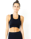SALE! 50% OFF! Milano Seamless Set - Leggings & Sports Bra - Black [MADE IN ITALY]