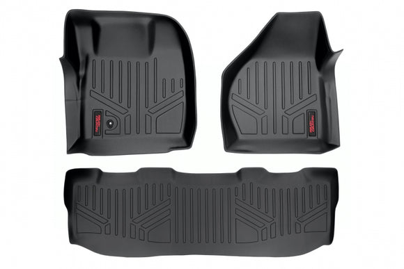 HEAVY DUTY FLOOR MATS [FRONT/REAR] - (08-10 FORD SUPER DUTY CREW CAB)