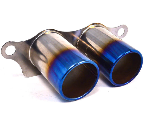 Titanium Exhaust Burnt Tips Porsche 991 GT3 GT3RS 14-16
