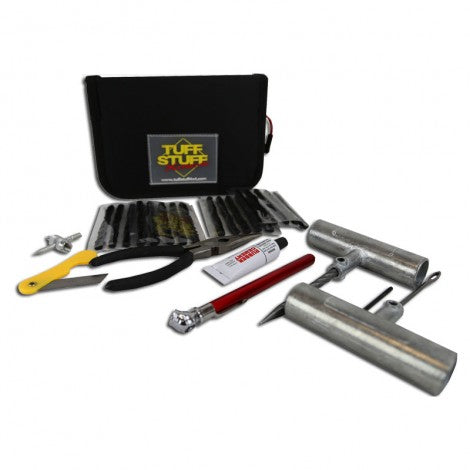 Tuff Stuff® Tire Repair Kit Includes Tools, Plugs, Patches & Storage Case