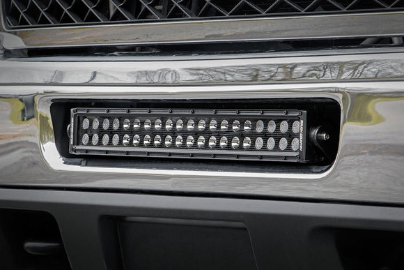 CHEVROLET 20-INCH LED LIGHT BAR HIDDEN BUMPER MOUNTS (11-14 2500HD)