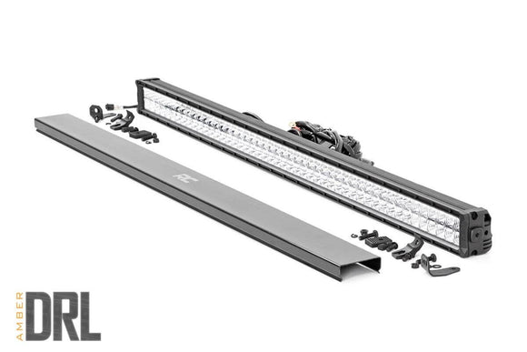 50-INCH CREE LED LIGHT BAR - (DUAL ROW | CHROME SERIES W/ AMBER DRL)