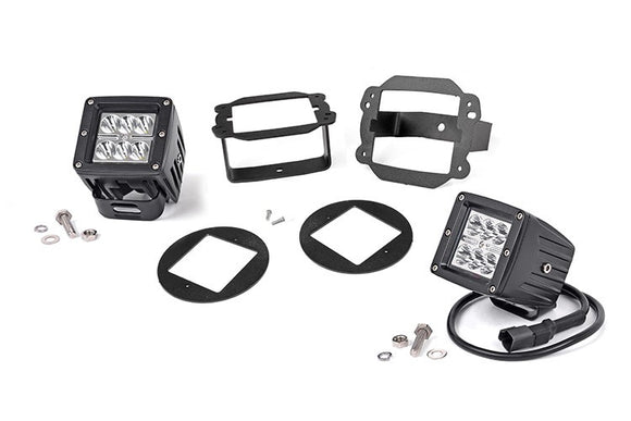 JEEP 2-INCH CREE LED FOG LIGHT KIT (CHROME SERIES | 10-18 WRANGLER JK)