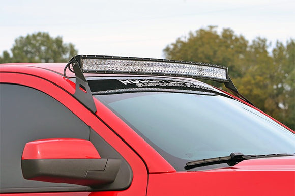 GM 54-INCH CURVED LED LIGHT BAR UPPER WINDSHIELD MOUNTS (15-18 SUVS)