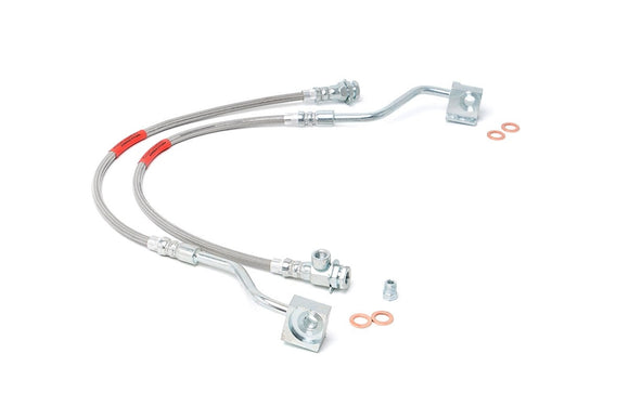 FORD EXTENDED FRONT STAINLESS STEEL BRAKE LINES (80-96 F150/BRONCO)