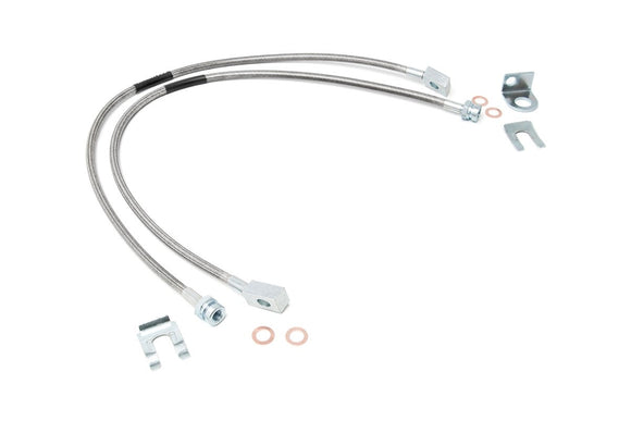 JEEP STAINLESS STEEL BRAKE LINES | 4-6IN LIFTS (XJ/YJ/TJ)