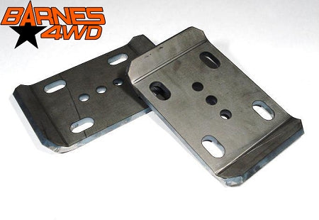 EARLY JEEP CJ SERIES & M38 U BOLT PLATES FOR TWO INCH WIDE SPRINGS