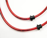 Rear Steel Braided Brake Lines Subaru WRX 02-05
