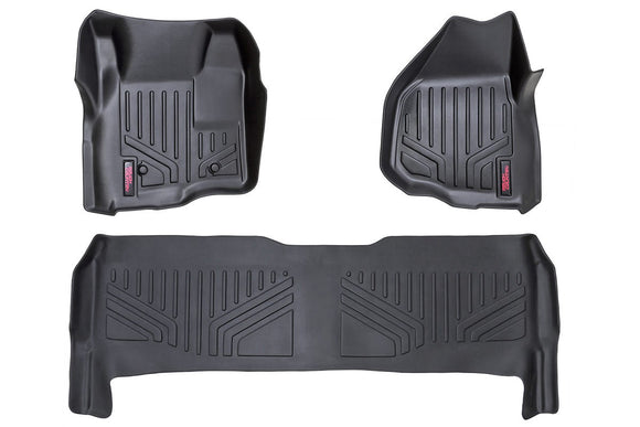 HEAVY DUTY FLOOR MATS [FRONT/REAR] - (11-16 FORD SUPER DUTY CREW CAB | DEPRESSED PEDAL)