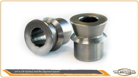 1″ To 9/16″ Stainless Steel Misalignment Spacers