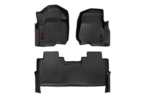 HEAVY DUTY FLOOR MATS [FRONT/REAR] - (17-18 FORD SUPER DUTY CREW CAB)