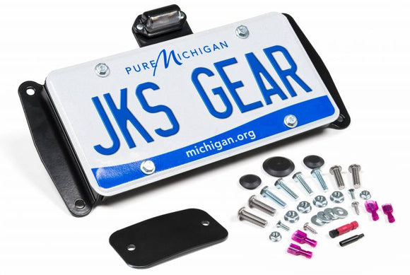 License Plate Relocation Kit w/Light | Wrangler JK