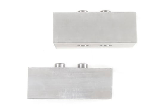 "ZONU3023 2"" REAR / SUSP. LIFT BLOCKS - 3/4"" PINS 04-13 F150 2IN DUAL PIN BLOCKS (PAIR)"