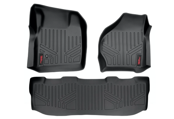 HEAVY DUTY FLOOR MATS [FRONT/REAR] - (99-07 FORD SUPER DUTY CREW CAB)