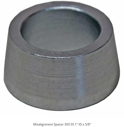 1 ID Misalignment Spacer Zinc Plated Steel 2 5/8 Inch Mounting Width