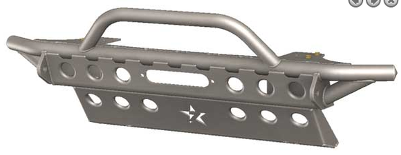 JL PRITCHETT CANYON FRONT BUMPER WITH CRASH BAR SKID