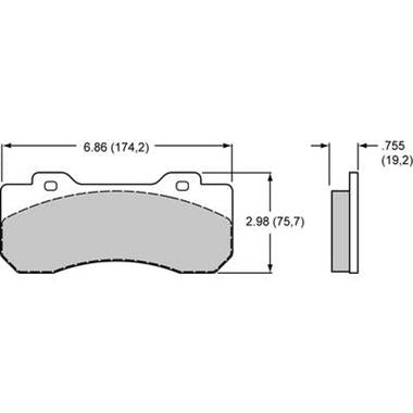 Wilwood 10120 Brake Pads - 150-13773K