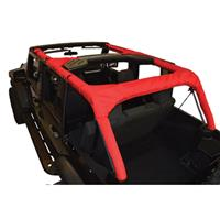 Replacement Roll Bar Cover Fits 2007 to 2016 JK Wrangler Unlimited and Rubicon Unlimited 4-door models Red