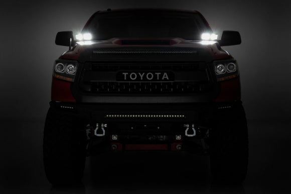 TOYOTA 2-INCH LED LOWER WINDSHIELD DITCH KIT (14-21 TUNDRA)