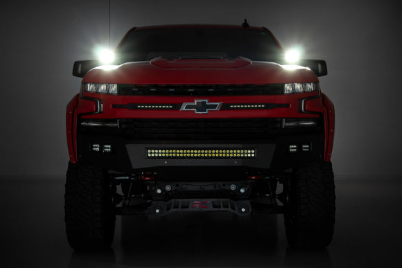 CHEVY 2-INCH LED LOWER WINDSHIELD DITCH KIT (19-21 SILVERADO)